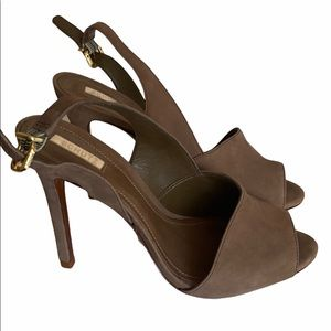 Schutz Gray/Brown High Heel Sandals Size 6B